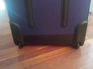 Roller luggage wheels