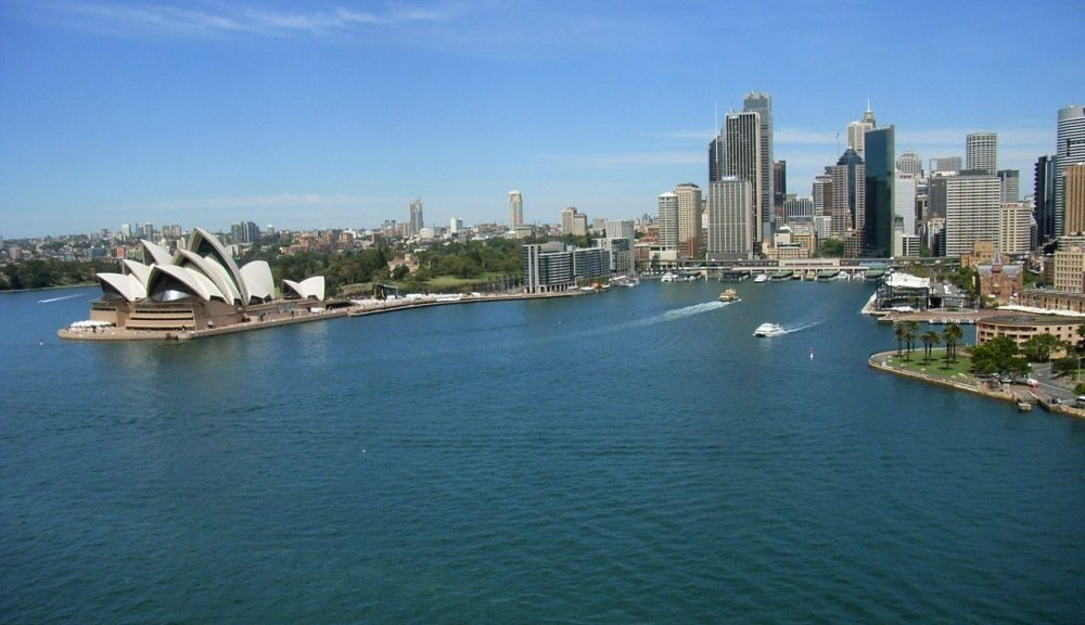 Sydney Harbour view from bridge