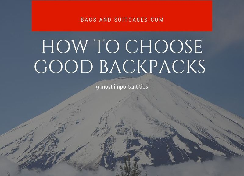 how to choose good backpacks