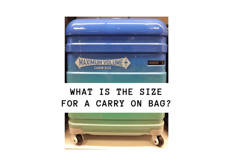 what is the size for a carry on bag