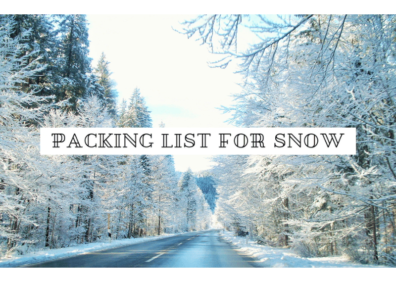 packing list for snow